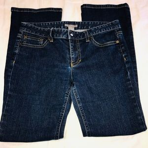 Ann Taylor straight leg mid wash jeans size 8